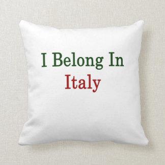 I Belong In Italy Throw Pillow