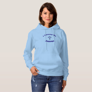 I Belong To Jesus Hoodie w/Blue Flared Cross