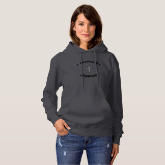 I Belong To Jesus Hoodie w/Grey Flared Cross