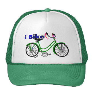 I bike  (bicycle) drawing 1950 bike trucker hat