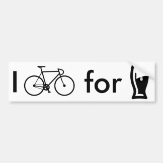I bike for beer bumper sticker