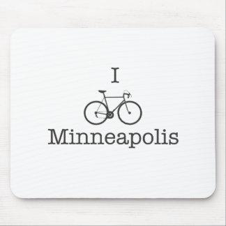 I Bike Minneapolis - Black text Mouse Pad
