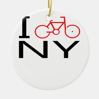 I Bike New York T-shirt Ceramic Ornament