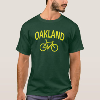I Bike OAKLAND - Fixie Bike Design T-Shirt