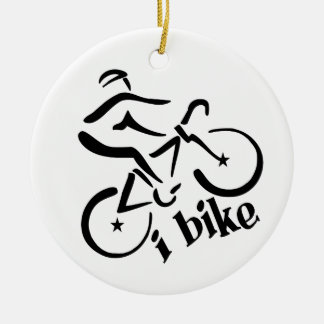 I BIKE ornament, customize Ceramic Ornament