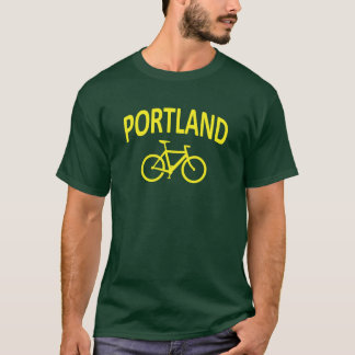 I Bike PORTLAND - fixie bike design T-Shirt