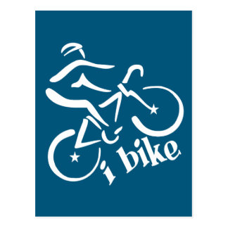 I BIKE postcard, customize Postcard