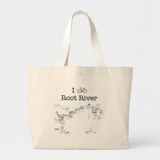 I Bike Root River Large Tote Bag