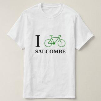 I Bike SALCOMBE (Green Bicycle Icon) T-Shirt