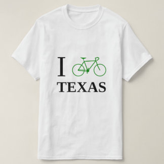 I Bike TEXAS (Green Bicycle Icon) T-Shirt
