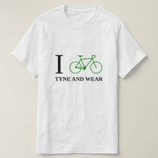 I Bike TYNE AND WEAR (Green Bicycle Icon) T-Shirt