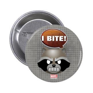 """""""I Bite"""" Rocket Emoji 2 Inch Round Button"""