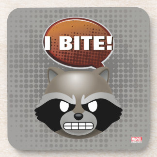 """I Bite"" Rocket Emoji Coaster"