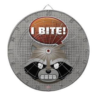 """I Bite"" Rocket Emoji Dart Board"