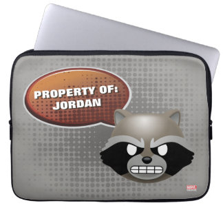 """I Bite"" Rocket Emoji Laptop Sleeve"