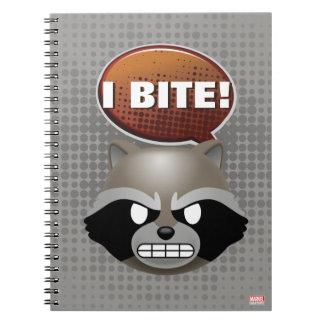 """I Bite"" Rocket Emoji Spiral Notebook"