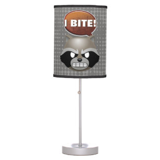 """I Bite"" Rocket Emoji Table Lamp"
