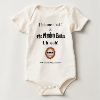 I blame that ! on The Phantom farter (baby) Baby Bodysuit