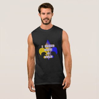 I Bleed Blue & Gold Sleeveless T-Shirt