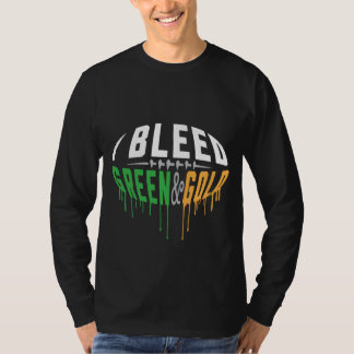 I BLEED GREEN & GOLD T-Shirt
