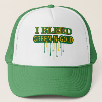 I Bleed Green 'n Gold Trucker Hat