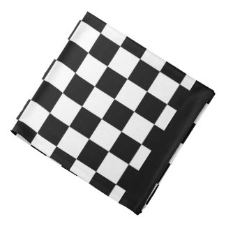 I Bleed Racing Black White Checkered Customize It Bandana