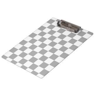 I Bleed Racing Check Black White Checkered Custom Clipboard