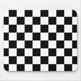 I Bleed Racing Check Black White Checkered Custom Mouse Pad