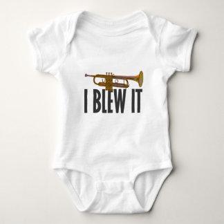 I Blew It Trumpet Baby Bodysuit