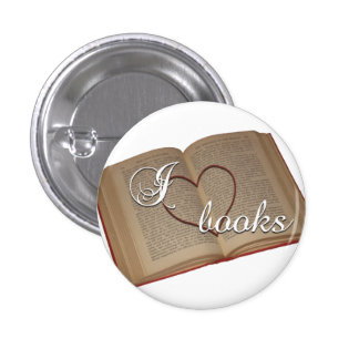 """I ♡ Books"" Button"