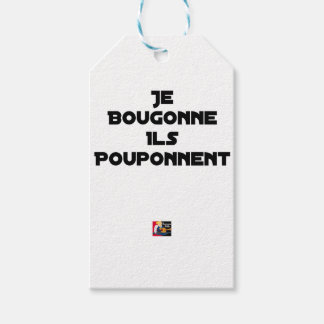 I BOUGONNE, THEY POUPONNENT - Word games Gift Tags