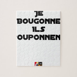 I BOUGONNE, THEY POUPONNENT - Word games Jigsaw Puzzle
