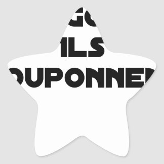 I BOUGONNE, THEY POUPONNENT - Word games Star Sticker