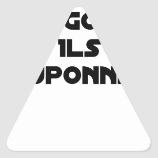 I BOUGONNE, THEY POUPONNENT - Word games Triangle Sticker