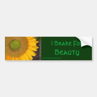 I Brake For Beauty Inspirational Bumper Sticker