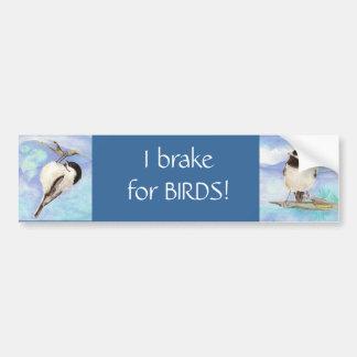 I brake for Birds - Birding Bumper Sticker