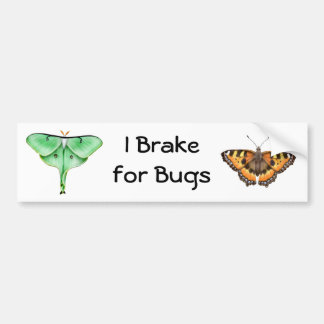 I Brake for Bugs Bumper Sticker