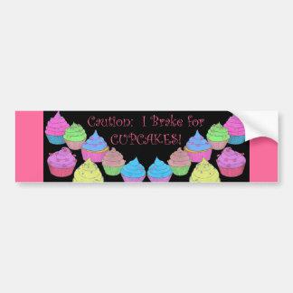 I Brake for Cupcakes Bumper Sticker