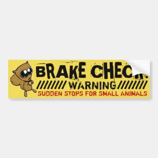 I Brake for Cute Critters Bumper Sticker
