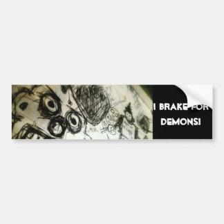 I brake for Demons! Bumper Sticker