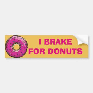 'I BRAKE FOR DONUTS' BUMPER STICKER