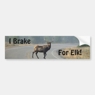 I Brake For Elk Bumper Sticker