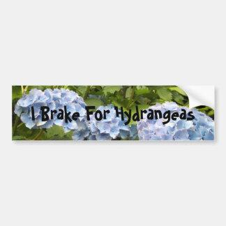I Brake For Hydrangeas Bumper Sticker