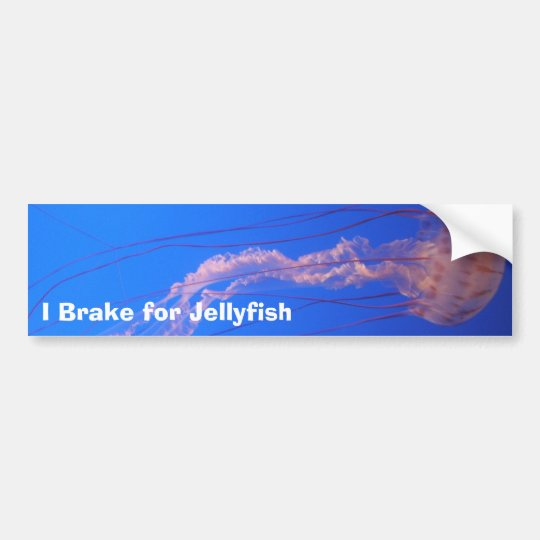 I Brake for Jellyfish Bumper Sticker