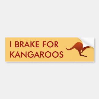 I BRAKE FOR KANGAROOS Bumper Sticker Car Bumper Sticker