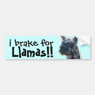 i brake for Llamas! cute Bumper Sticker