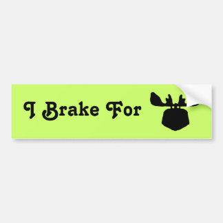 I Brake for Moose Bumper Sticker