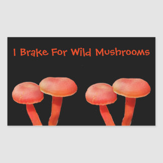 I Brake For Mushroom Cute Nature Sticker