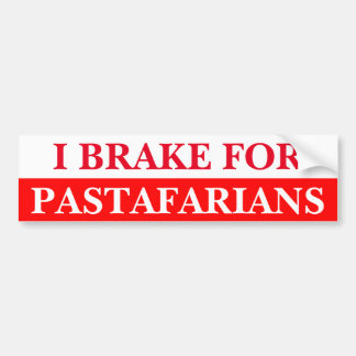 I Brake For Pastafarians Bumper Sticker