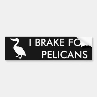 I BRAKE FOR PELICANS Bumper Sticker